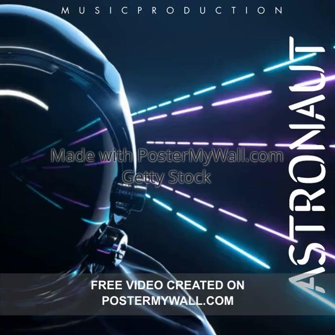 Astronaut Album Cover Car Miami Scene template