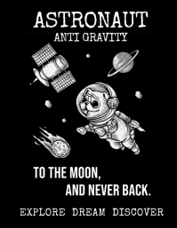 Astronaut Anti Gravity poster