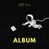 Astronaut Art Illustration album cover template
