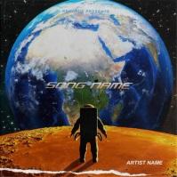 Astronaut mixtape cover art video template