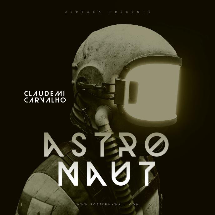 Astronaut Music Mixtape Cover Portada de Álbum template