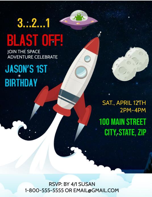 Astronaut Rocket Birthday