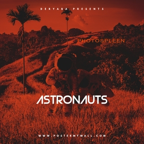 Astronauts CD Mixtape Cover Template