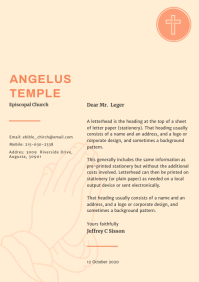 Asymmetrical Church Letterhead