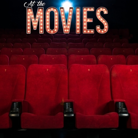 AT THE MOVIES FLYER TEMPLATE