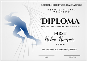 athletic diploma 100m