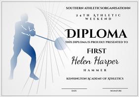 athletic diploma hammer