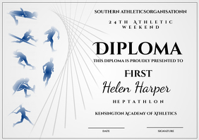 Athletic diploma heptathlon