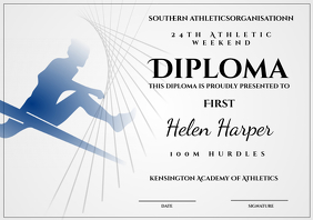 Athletic diploma hurdles