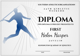 athletic diploma javelin