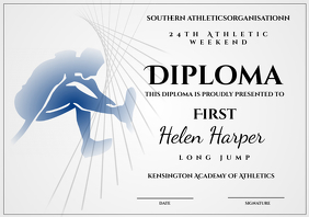 athletic diploma long jump