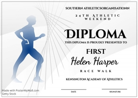 Athletic diploma race walk