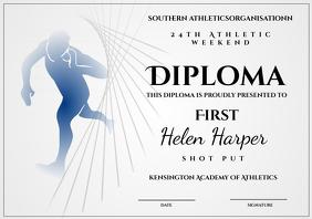 athletic diploma shot put