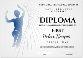 athletic diploma triple jump