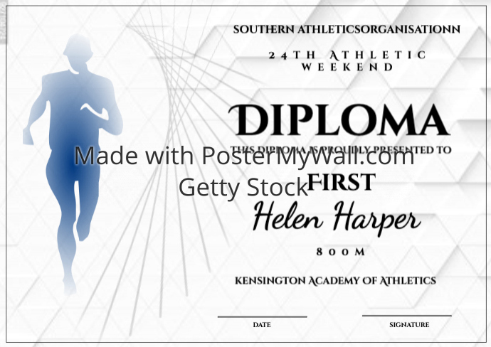 athletics diploma 800m