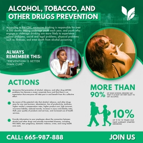 ATOD Substance Abuse Infographic Social Media Instagram-opslag template