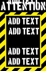 Attention sign alert colors