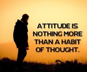 ATTITUDE IS NOTHING QUOTE TEMPLATE Persegi Panjang Sedang