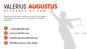 attorney at law business card design template