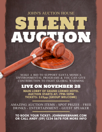 Auction event flyer