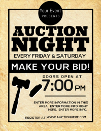 60 customizable design templates for auction postermywall