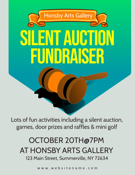 Auction Fundraiser Flyer Template PosterMyWall