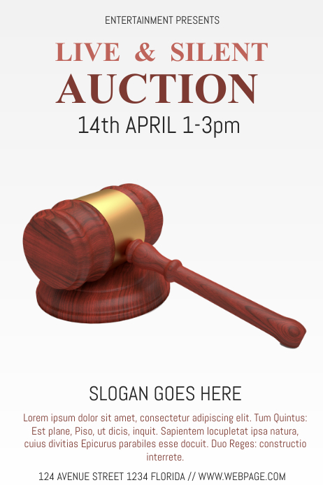auction flyer template postermywall