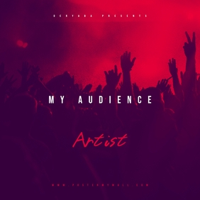Audience Mixtape CD Cover Art Template