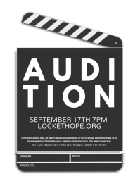 auditions flyer template