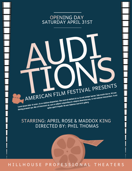 audition template postermywall