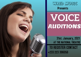 Audition flyer template A3