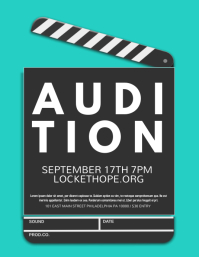 Kids Casting Call Flyer Audition