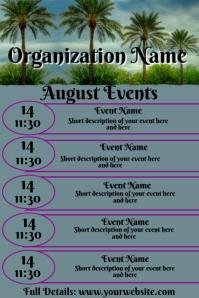 August Events Calendar
