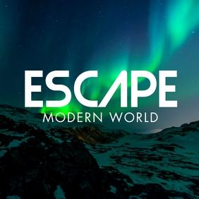 aurora borealis background album cover