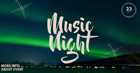 Aurora Music Event Facebook Video Post Template