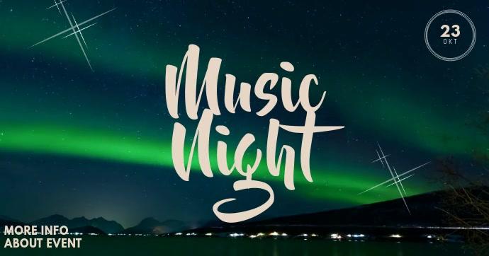 Aurora Music Event Facebook Video Post Template