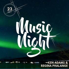 Aurora Music Event Instagram Video Post Template