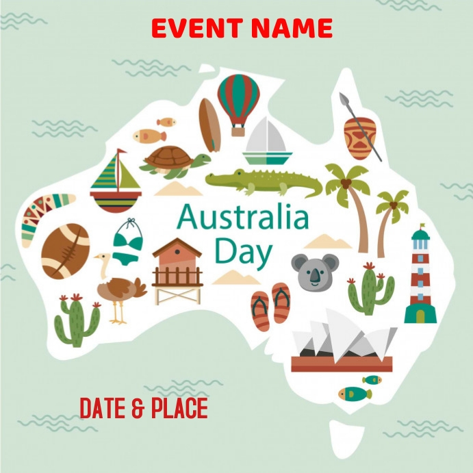 AUSTRALIA DAY,Australia Day Instagram Plasing template