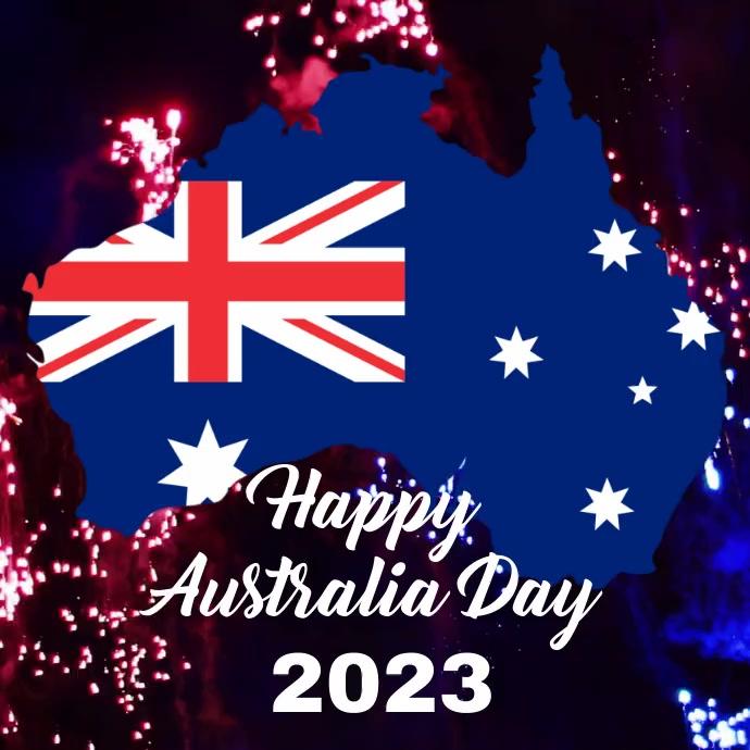 Australia day,happy australia day Instagram-opslag template
