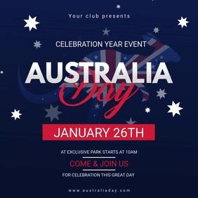 Australia Day Celebration Video Invite Square (1:1) template