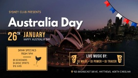 Australia Day Club Event Video Banner template