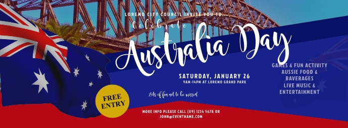 Australia Day Event Facebook Cover Photo template
