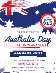 Australia Day Event Invitation Flyer