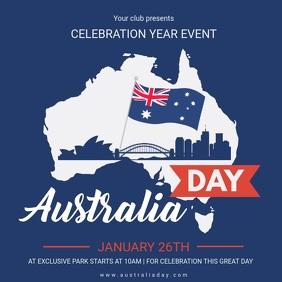 Australia Day Event Invitation Video Square (1:1) template