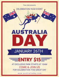 Australia Day Event Invite Flyer