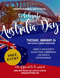 Australia Day Event Flyer Templates