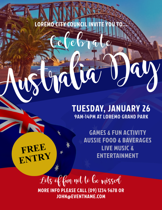 Australia Day Event Flyer Templates