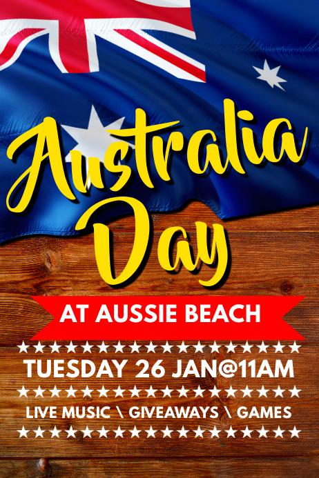 australia day poster template