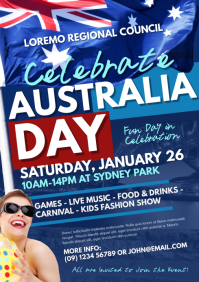Australia Day Event Flyer Template