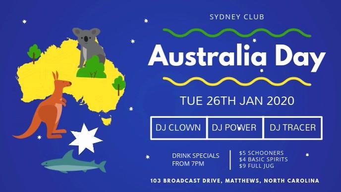 Australia Day Kid's Event Video Banner